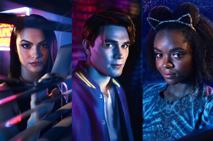 Camila Mendes as Veronica Lodge, K.J. Apa as Archie Andrews, Ashleigh Murray as Josie McCoy