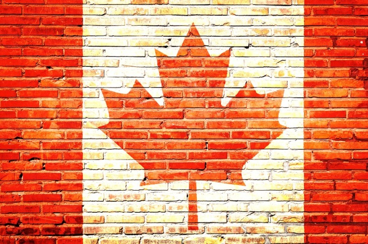 Canadian flag brickwork